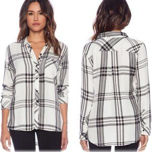 Rails Hunter Button Down Black and White flannel